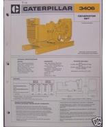 1979 Caterpillar 3406 Diesel Generator Sets Brochure - $6.00