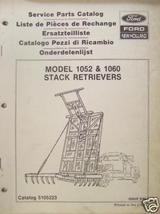 New Holland 1052, 1060 Hay Stack Movers Parts Manual - $18.00