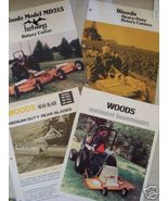 Woods Mowers and Blades Brochures - Lot of 4 - $8.00