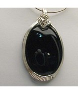 Wire Wrapped Solid Sterling Silver Black Onyx P... - $112.07