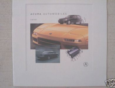 1999 Acura Full Line Brochure