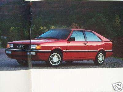 1985 Audi Full Line Brochure - 4000S, Coupe GT, 5000S