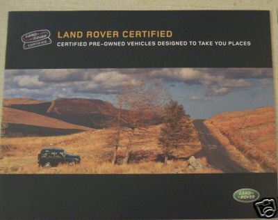 2003 Land Rover Certified Pre-Owned Cars Brochure
