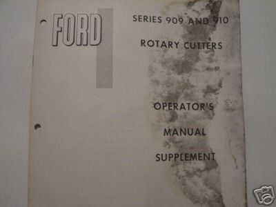 Primary image for 1968 Ford 909, 910 Rotary Mowers Operator's Manual Supplement