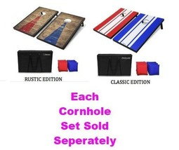 Cornhole Set Regulation Size 8 Bean Bags Travel Case Game Rules Good Wea... - $179.99