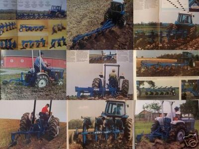 1982 Ford Moldboard Plows Full Line Brochure Full Color