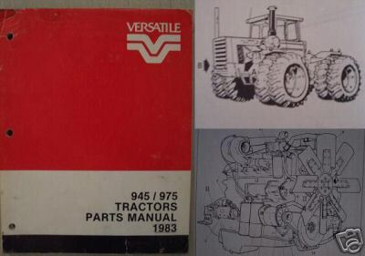 Primary image for 1983 Versatile 975,945 Tractors Original Parts Manual