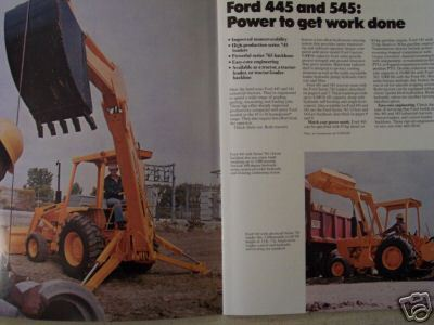 1978 Ford 445, 545 Industrial Loader Tractors Color Brochure