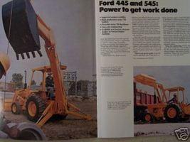 1978 Ford 445, 545 Industrial Loader Tractors Color Brochure - $14.00