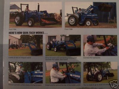 1982 Ford Tractor Loaders Original Color Brochure