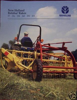 1995 New Holland 57, 256, 258, 260, 216 Rolabar Hay Rakes, 252 Hitch Brochure