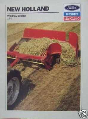 Primary image for 1989 New Holland 144 Windrow Inverter Brochure - Color