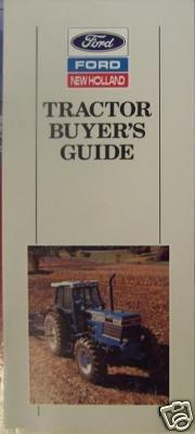 1990 Ford Tractor Buyers Guide - 10, 20, 30 Series, Articulated, Bidirectional