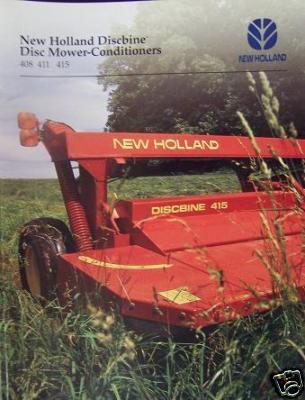 1995 New Holland 408, 411, 415 Mower-Conditioners Brochure