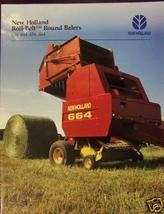 1995 New Holland 634, 644, 654, 664 Round Balers Brochure - $4.80