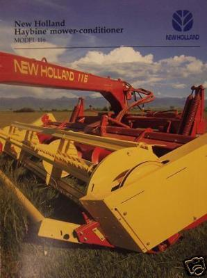 1995 New Holland 116 Haybine Mower Conditioner Brochure - Color