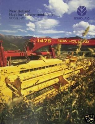 1995 New Holland 1475 Mower Conditioner Brochure -Color