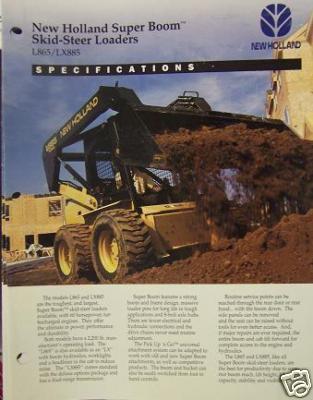 1994 New Holland L865, Lx865 Skid Steer Loaders Brochure