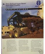 1994 New Holland L865, Lx865 Skid Steer Loaders Brochure - $4.20