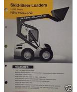 1987 New Holland L553, L554, L555 Deluxe Skid Steer Loaders Brochure - $4.20