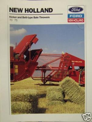 Primary image for 1988 New Holland 70, 75 Bale Throwers Brochure - Color
