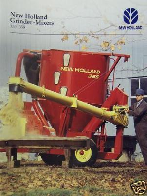 1995 New Holland 355, 358 Feed Grinder-Mixers Brochure - Color