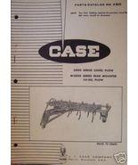 Case 5000 Series Chisel Plow Original Parts Manual - 1957 - $9.00