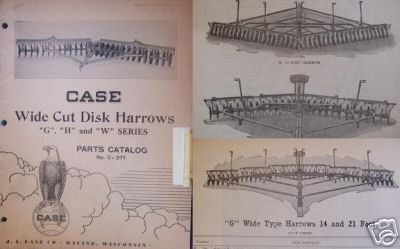1946 Case W, G, H Series Disk Harrows Parts Manual