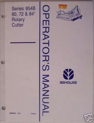 New Holland 954B Series Rotary Mower Operator Manual