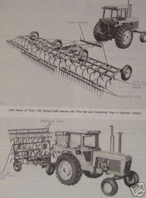 John Deere 1740 Spring Tooth Harrow Operator's Manual