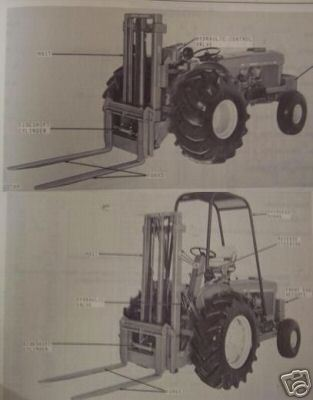 John Deere 2, 4 Forklifts Original Parts Manual