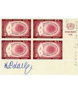 Henry Cabot Lodge, Jr.  SIGNED Block of (4) Uni... - $25.00