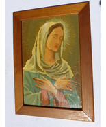 "FRAMED~MID-CENTURY, MOTHER MARY, PAINT BY NUMBER PAINTING  11 1/2"" X 15 ... - $9.89"