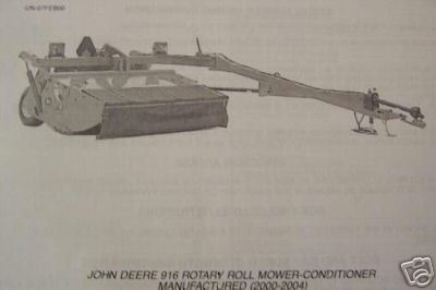 Primary image for John Deere 916 Mower Conditioner Parts Manual