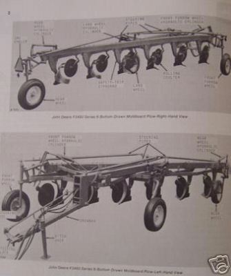 John Deere F3450,F3350 Moldboard Plows Operators Manual