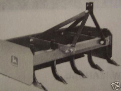 Primary image for John Deere 50A, 40A Box Blades Operator's Manual