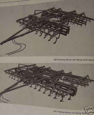 John Deere 600, 400 Finishing Harrows Operator's Manual