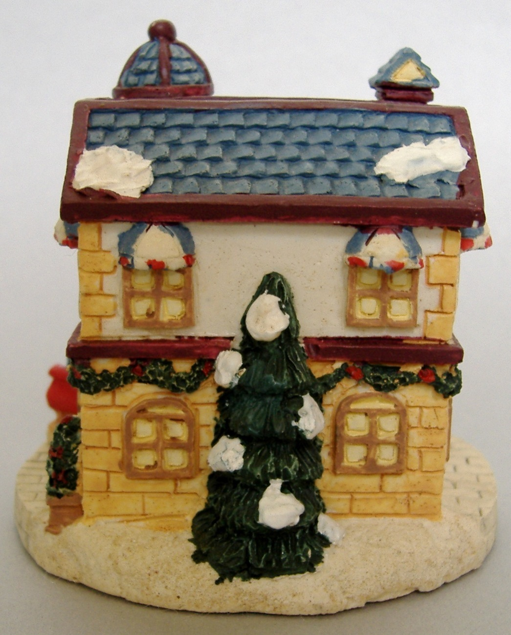 Crystal Falls Village Park Place Hotel Christmas Collectible 1994 Porcelain