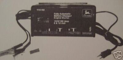 John Deere TY5162 Battery Charger Operator's Manual