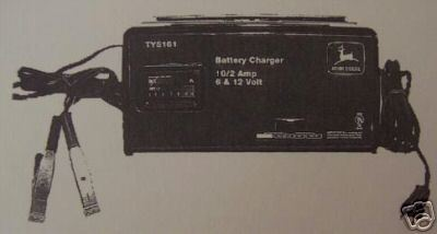 Primary image for John Deere TY5161 Battery Charger Operator's Manual