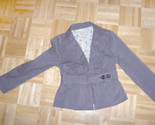 40s style womens brwon jacket belted striped thumb155 crop