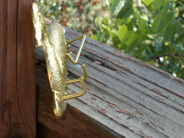 Brass-Plated DUCK CLOTHING / UTILITY HOOK - Excellent Item!