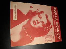 Sheet Music Beautiful Brown Eyes Rosemary Clooney 1951 Arthur Smith Delmore - $8.99
