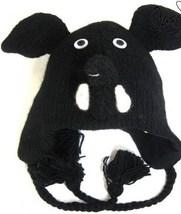 Black Elephant Animal Critter Hat Handmade Wool Warm Soft Cute NEW  image 1