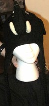 Black Elephant Animal Critter Hat Handmade Wool Warm Soft Cute NEW  image 2