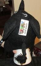 Black Elephant Animal Critter Hat Handmade Wool Warm Soft Cute NEW  image 3