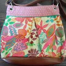 Merona Floral Tropical Polynesian Crossbody Coa... - $25.19
