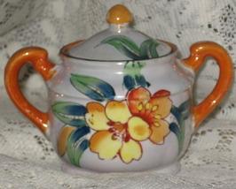 Lusterware Covered Sugar Bowl-Handpainted-Trico-Nagoya Japan image 1