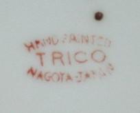 Lusterware Covered Sugar Bowl-Handpainted-Trico-Nagoya Japan image 4