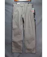 NEW Men's Craftsman Canvas Carpenter Pants Water, Oil Resistant Grey 34 ... - $29.94